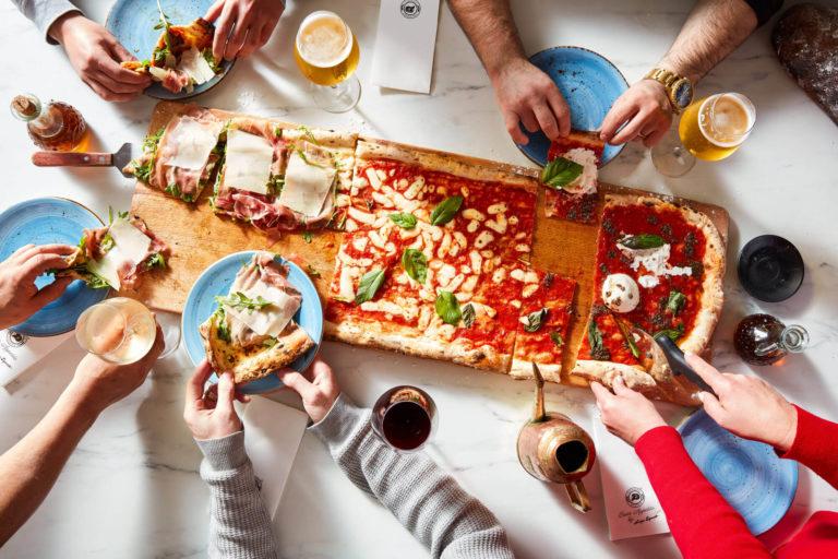 Meter Long Margherita Pizza Via Napoli