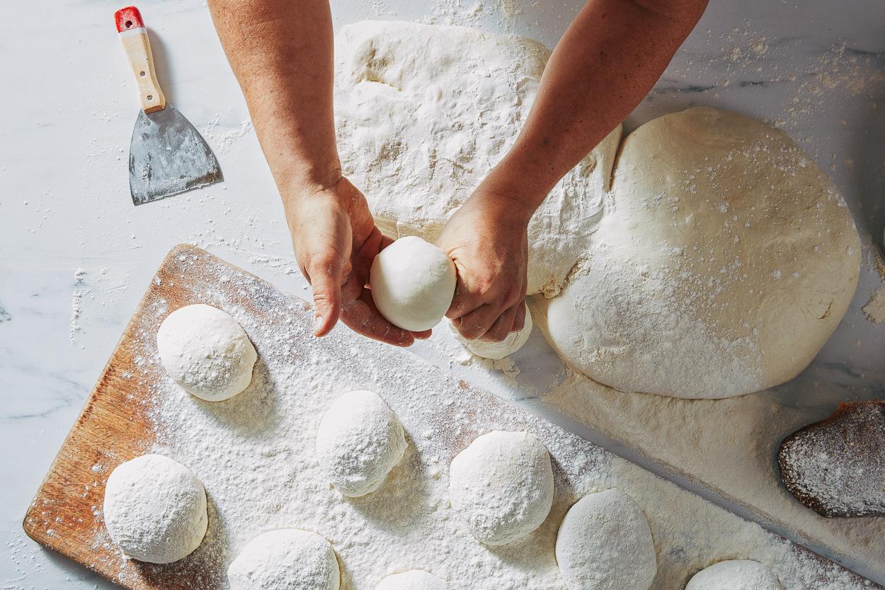 Pizza Dough Balls Via Napoli