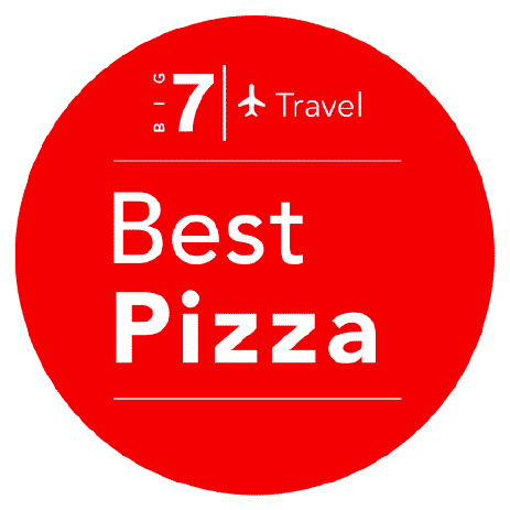 Best Pizza Award by Big 7 Travel